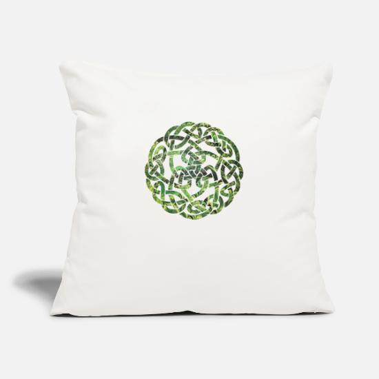 Celtic Knot Pillow Cases - Celtic knot 5 e 35 - Pillowcase 17,3'' x 17,3'' (45 x 45 cm) natural white