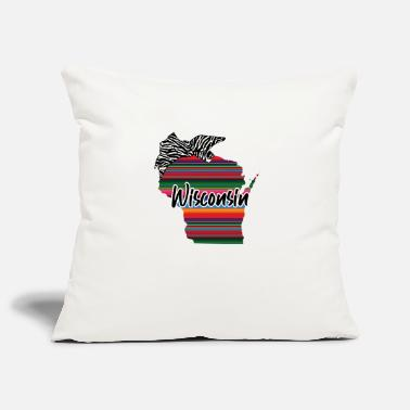 Us Wisconsin Country Rainbow - Housse de coussin