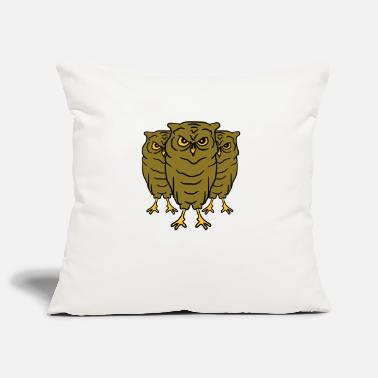 Nocturnal 3 Cool evil owls team friends - Pillowcase 17,3'' x 17,3'' (45 x 45 cm)