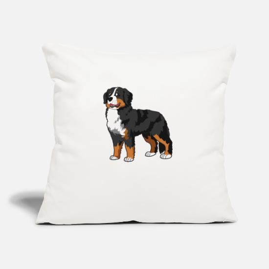 Dog Pillow Cases - Bernese Mountain Dog - Pillowcase 17,3'' x 17,3'' (45 x 45 cm) natural white