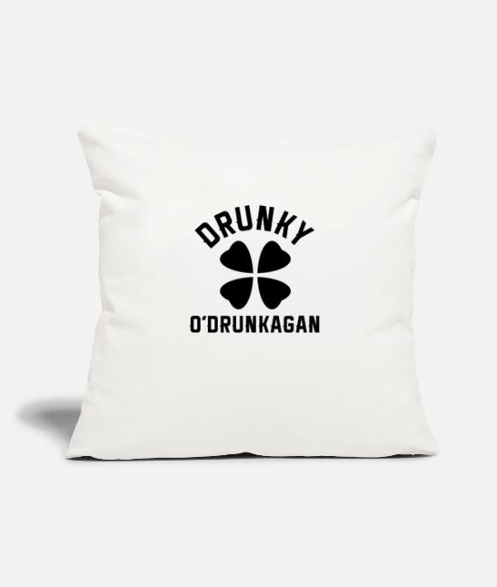 Proud Pillow Cases - Drunky O'Drunkagan - Pillowcase 17,3'' x 17,3'' (45 x 45 cm) natural white