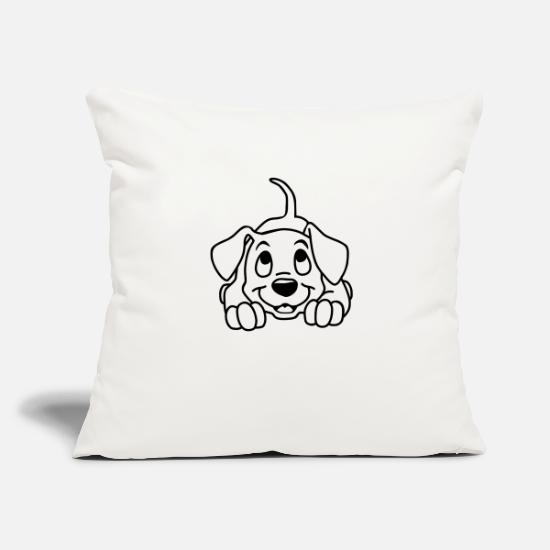 Pet Pillow Cases - A little puppy - Pillowcase 17,3'' x 17,3'' (45 x 45 cm) natural white