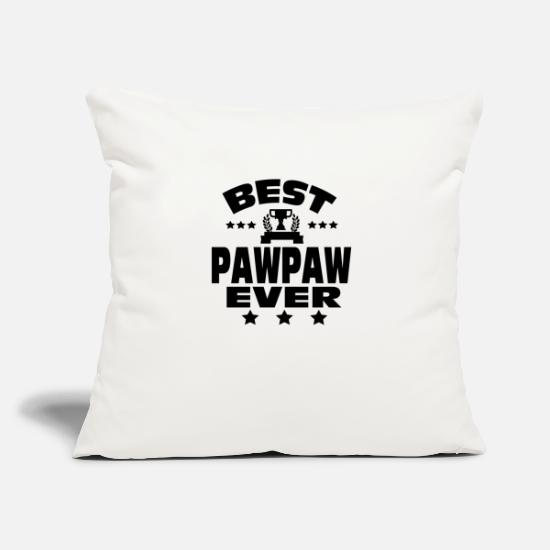 """best Pawpaw"" Pillow Cases - BEST PAWPAW EVER - Pillowcase 17,3'' x 17,3'' (45 x 45 cm) natural white"