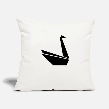 Swan Swan Swan Paper - Pillowcase 17,3'' x 17,3'' (45 x 45 cm)