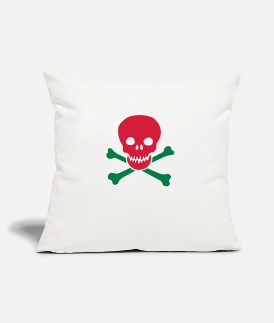 Skull And Crossbones Pillow Cases - skull and crossbones - Pillowcase 17,3'' x 17,3'' (45 x 45 cm) natural white