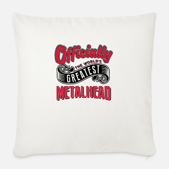 World Pillow Cases - Officially greatest metalhead worlds - Pillowcase 17,3'' x 17,3'' (45 x 45 cm) natural white