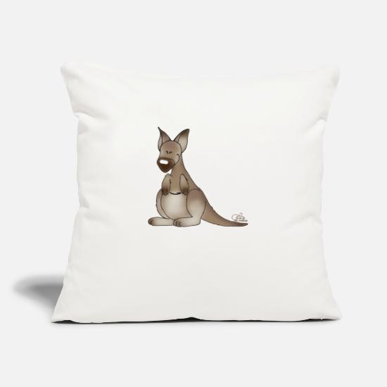 Continent Pillow Cases - Giggling kangaroo - Pillowcase 17,3'' x 17,3'' (45 x 45 cm) natural white