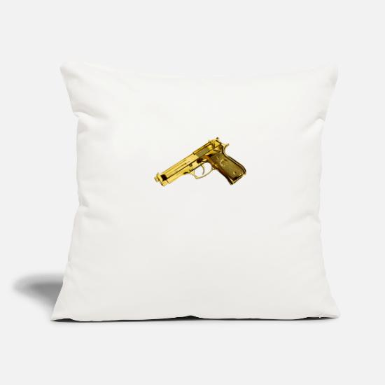 Gun Pillow Cases - gun - Pillowcase 17,3'' x 17,3'' (45 x 45 cm) natural white