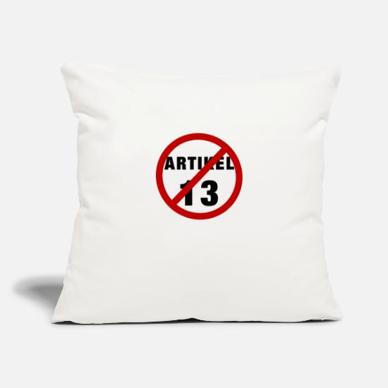 Gift Idea Pillow Cases - Article 13 prohibition - Pillowcase 17,3'' x 17,3'' (45 x 45 cm) natural white