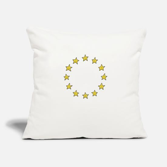 European Union Pillow Cases - European Union stars - Pillowcase 17,3'' x 17,3'' (45 x 45 cm) natural white