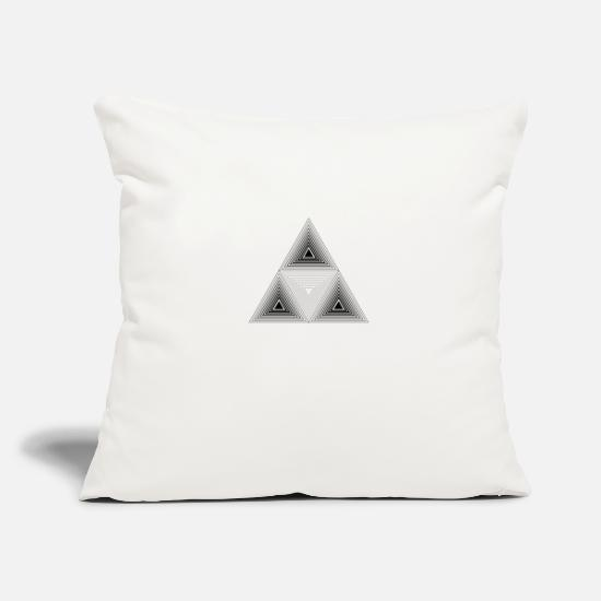 Optical Illusion Pillow Cases - Triangle pattern illusion paradox shape gift - Pillowcase 17,3'' x 17,3'' (45 x 45 cm) natural white