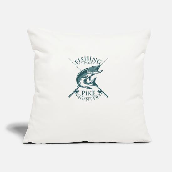 Gift Idea Pillow Cases - Fishing Pike - Pillowcase 17,3'' x 17,3'' (45 x 45 cm) natural white