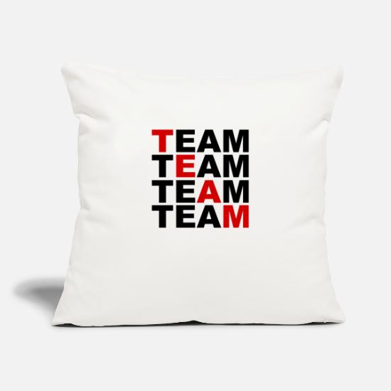 Team Bride Pillow Cases - TEAM - Team - Sports - Friends - Friends - Pillowcase 17,3'' x 17,3'' (45 x 45 cm) natural white