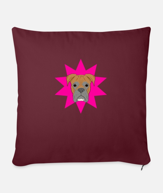 Cute Dog Pillow Cases - dog - Pillowcase 17,3'' x 17,3'' (45 x 45 cm) burgundy