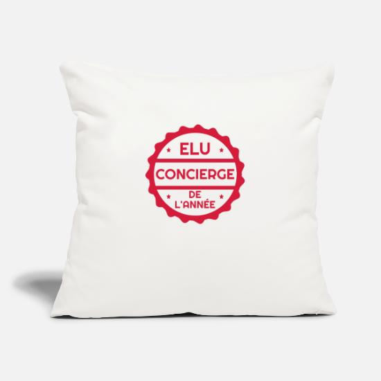 Nurse Pillow Cases - Janitor / Concierge / Hausmeister / Conserje - Pillowcase 17,3'' x 17,3'' (45 x 45 cm) natural white
