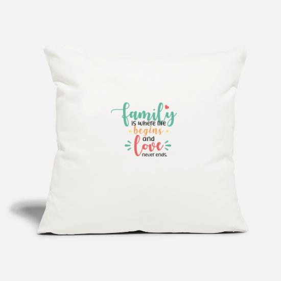 Love Pillow Cases - Family Life Love Gift Idea - Pillowcase 17,3'' x 17,3'' (45 x 45 cm) natural white