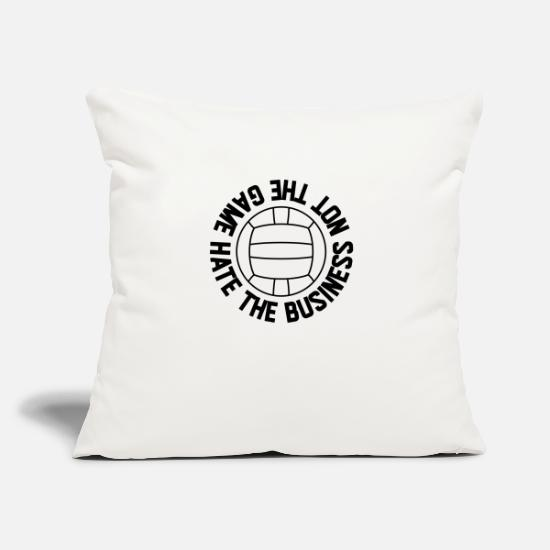 S'aimer Housses de coussin - Volleyball love joueur de volleyball beach net - Housse de coussin blanc nature