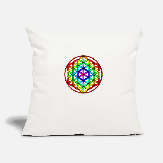 Blossom Pillow Cases - Flower of life Rainbow Flower of life rainbow - Pillowcase 17,3'' x 17,3'' (45 x 45 cm) natural white