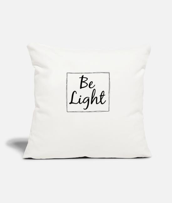 Master Pillow Cases - Be Light - Pillowcase 17,3'' x 17,3'' (45 x 45 cm) natural white