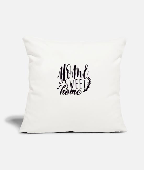 Calm Pillow Cases - home Sweet Home - Pillowcase 17,3'' x 17,3'' (45 x 45 cm) natural white