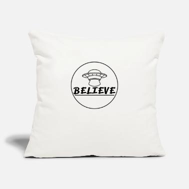Ufo Believe In Aliens Flying Saucer UFO - Pillowcase 17,3'' x 17,3'' (45 x 45 cm)
