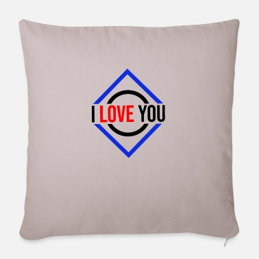 I Heart I love you love statement of love couple gift - Pillowcase 17,3'' x 17,3'' (45 x 45 cm)