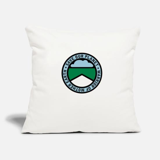 Animal Welfare Pillow Cases - earthwarriorblue_3f - Pillowcase 17,3'' x 17,3'' (45 x 45 cm) natural white