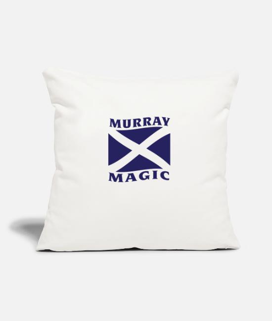Tennis Pillow Cases - Murray Magic - Pillowcase 17,3'' x 17,3'' (45 x 45 cm) natural white