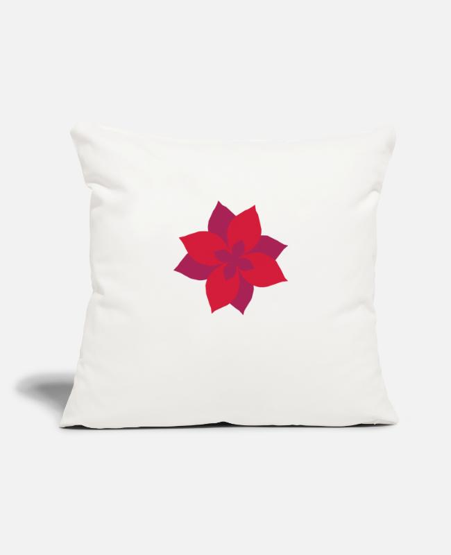 Wetter Pillow Cases - flower - blume - plant - pflanze - natur - Pillowcase 17,3'' x 17,3'' (45 x 45 cm) natural white