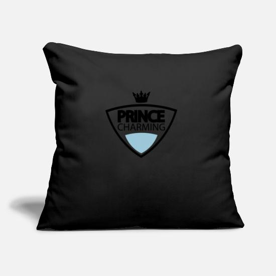Master Pillow Cases - prince_charming crest - Pillowcase 17,3'' x 17,3'' (45 x 45 cm) black