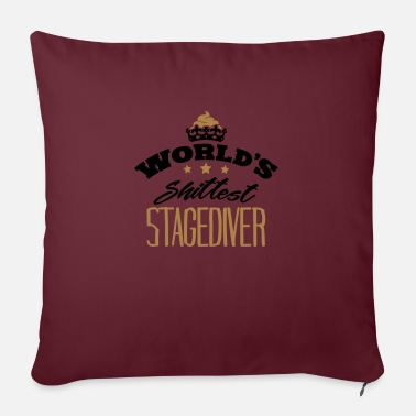Stagediving worlds shittest stagediver - Pillowcase 17,3'' x 17,3'' (45 x 45 cm)