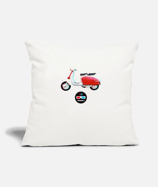 3D Pillow Cases - Vintage - Lambretta 3D - Pillowcase 17,3'' x 17,3'' (45 x 45 cm) natural white