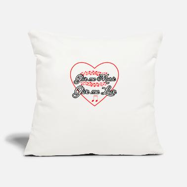 Music love musician musical saying - Pillowcase 17,3'' x 17,3'' (45 x 45 cm)