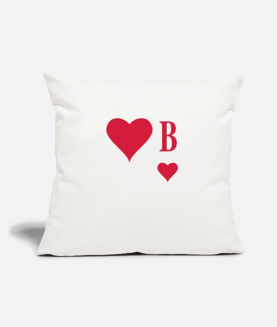 Poker Pillow Cases - Herz Bube | Herz Junge | B - Pillowcase 17,3'' x 17,3'' (45 x 45 cm) natural white