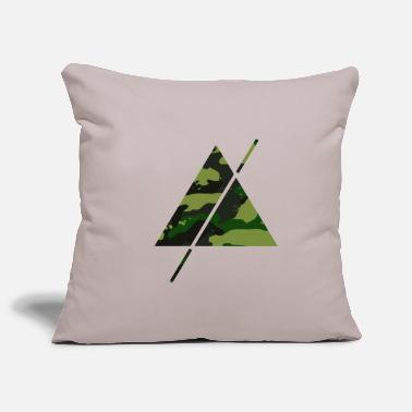 Pyramid Camouflage triangle with horizontal stripes - Pillowcase 17,3'' x 17,3'' (45 x 45 cm)