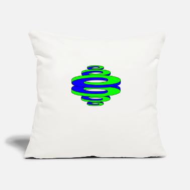Optics Optical Illusion / Curving Circles (Blue / Green) - Pillowcase 17,3'' x 17,3'' (45 x 45 cm)