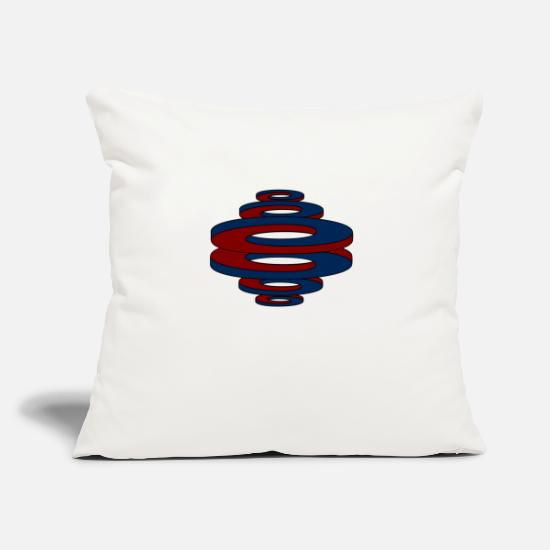 Gift Idea Pillow Cases - Optical illusion (curved curves / circles) - Pillowcase 17,3'' x 17,3'' (45 x 45 cm) natural white