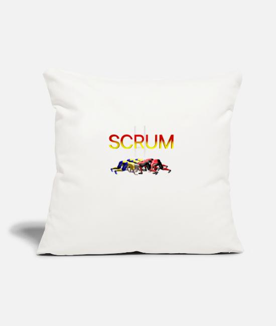 SCRUM RUGBY Pillow Cases - SCRUM RUGBY - Pillowcase 17,3'' x 17,3'' (45 x 45 cm) natural white