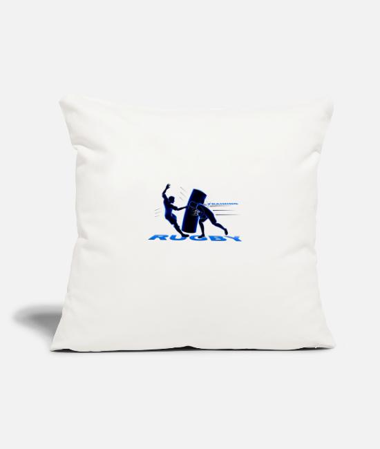 Stadium Pillow Cases - RUGBY TRAINING - Pillowcase 17,3'' x 17,3'' (45 x 45 cm) natural white
