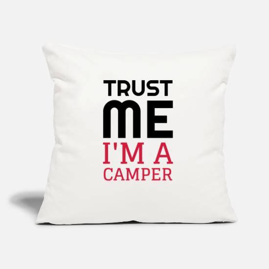 Forest Pillow Cases - Camping / Camper / Campeur / Camp / Scout - Pillowcase 17,3'' x 17,3'' (45 x 45 cm) natural white