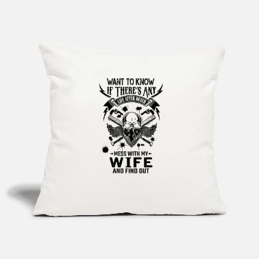 Mummy Life After Death Mess With My Wife - Pillowcase 17,3'' x 17,3'' (45 x 45 cm)