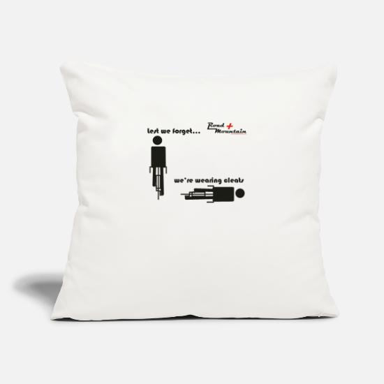 Cycling Pillow Cases - lest_we_forget_tshirt - Pillowcase 17,3'' x 17,3'' (45 x 45 cm) natural white