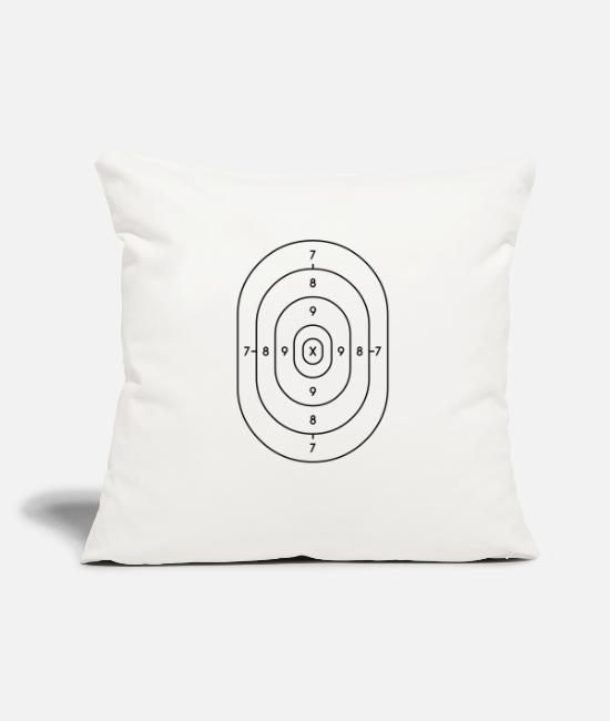 Miscellaneous Pillow Cases - target paper - Pillowcase 17,3'' x 17,3'' (45 x 45 cm) natural white