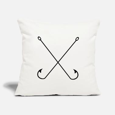 Fish Hook Fishing, hook, fishing hook, vintage, hipster, fish - Pillowcase 17,3'' x 17,3'' (45 x 45 cm)