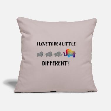 Elephant Design: I love to be a little different - Pillowcase 17,3'' x 17,3'' (45 x 45 cm)