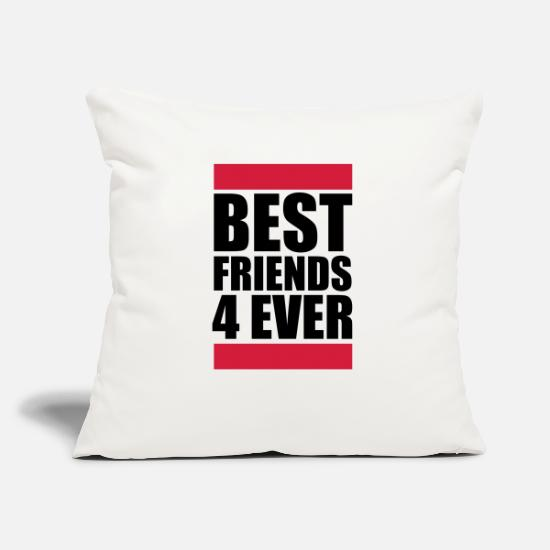 Love Pillow Cases - Best Friends 4 Ever Logo Design - Pillowcase 17,3'' x 17,3'' (45 x 45 cm) natural white