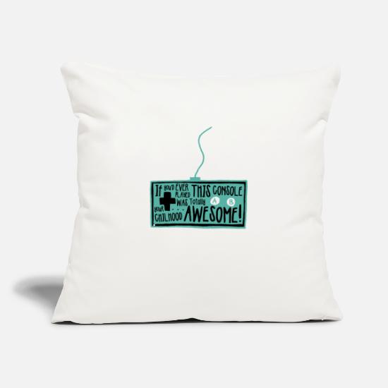 Play Pillow Cases - Never Stop Playing / Gaming - Pillowcase 17,3'' x 17,3'' (45 x 45 cm) natural white