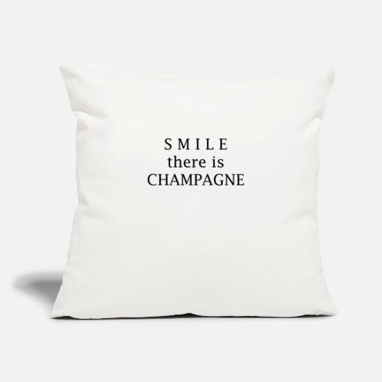 Champagne Pillow Cases - Smile champagne - Pillowcase 17,3'' x 17,3'' (45 x 45 cm) natural white