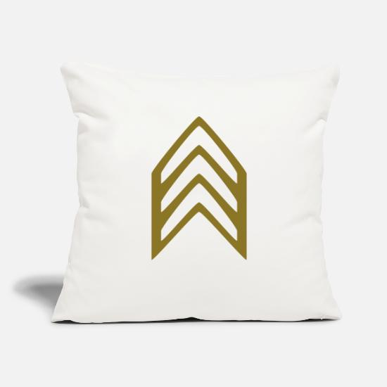 Army Pillow Cases - Insignia Sergeant - Pillowcase 17,3'' x 17,3'' (45 x 45 cm) natural white