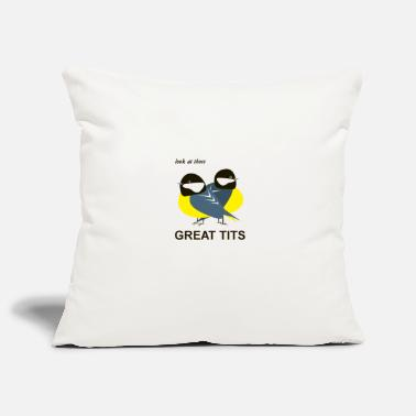 Tit GreatTitsBirds Tit Blue Tit Tit - Pillowcase 17,3'' x 17,3'' (45 x 45 cm)